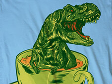Tea Rex T-Shirt Design by