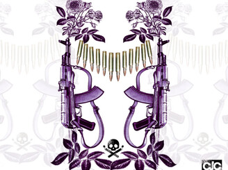 plant flowers not guns by camilowork