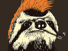 Punk Sloth T-Shirt Design by