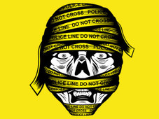 Mummy Line Do Not Cross T-Shirt Design by