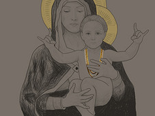 Madonna and Child T-Shirt Design by