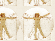 Vitruvian Man Table T-Shirt Design by