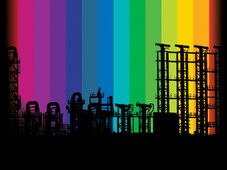 Industry Rainbow T-Shirt Design by