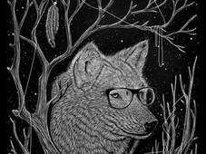 spectacle wolf T-Shirt Design by