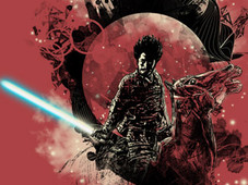 dark side of the samurai T-Shirt Design by