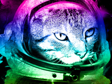 =-ASTROCAT-= T-Shirt Design by