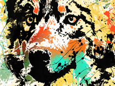 =-Howling Colors-= T-Shirt Design by
