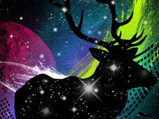 Spaced Out Deer T-Shirt Design by