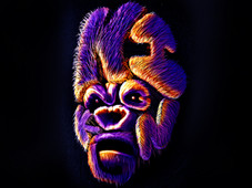 KING KONG TYPO PORTRAIT T-Shirt Design by