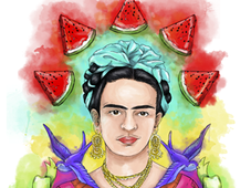 Frida Kahlo T-Shirt Design by