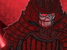 Samurai Saber T-Shirt Design by