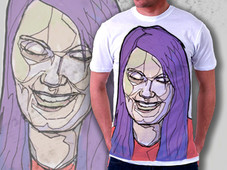 Laughing Purple T-Shirt Design by