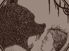 Be aware of the grizzly bear T-Shirt Design by