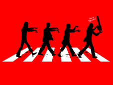 Zombies on Abbey Road T-Shirt Design by