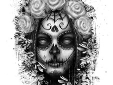 señora de los muertos (lady of the dead) T-Shirt Design by