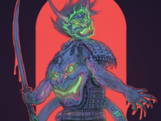 The Samurai possessed. T-Shirt Design by