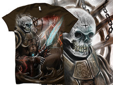 Skull Head Warrior T-Shirt Design by