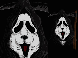 scream panda by teddyferdiansyah