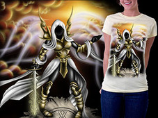 Auriel, the Archangel of Hope T-Shirt Design by