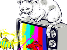 TV Fish T-Shirt Design by