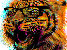 Tigre Art T-Shirt Design by