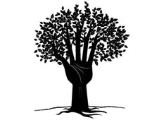 Tree as our Hand T-Shirt Design by
