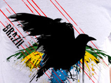 Brazil Splatter T-Shirt Design by