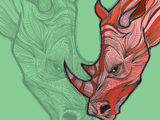 Skinless Rhino T-Shirt Design by