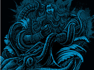 poseidon vs giant octopus by makoy69cebu