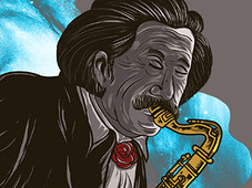 Einstein's Symphony T-Shirt Design by