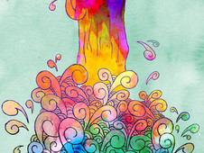 Waterfall of colors T-Shirt Design by