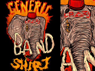 generic crazy band shirt by jublin