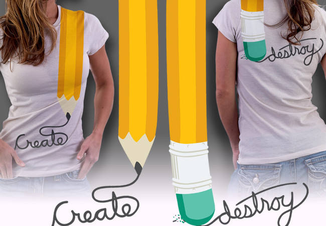 Pencil Create Destroy