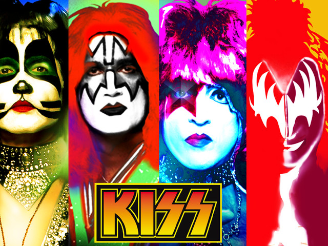 Kiss shirt design Hoffman art