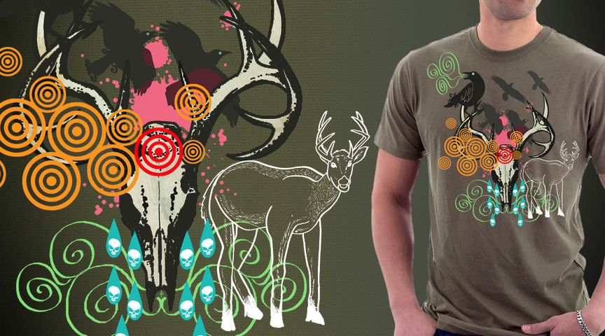 Deer+Skull+Birds+Tear Drop Shapes = Yeah!!