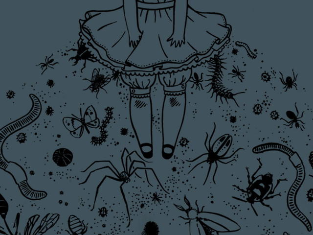 skirt full of creatures
