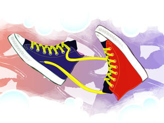 Sneaker Trekker by graphicult