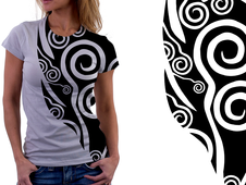 Tribal Vines T-Shirt Design by