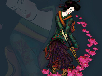 The Colors of a Geisha by ikeniru