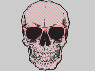 striped skull by Sasquate
