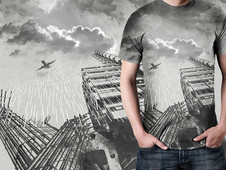 Acid Rain On Grey Sky T-Shirt Design by