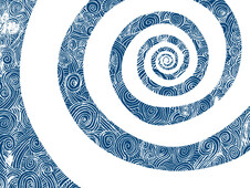 swirling spiral T-Shirt Design by