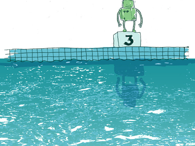 Little Robot Can't Swim