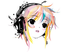 Yuki Headphone Remix T-Shirt Design by