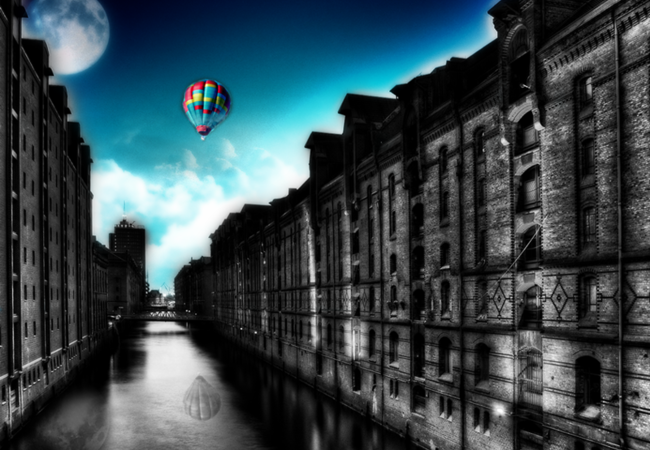 city balloon