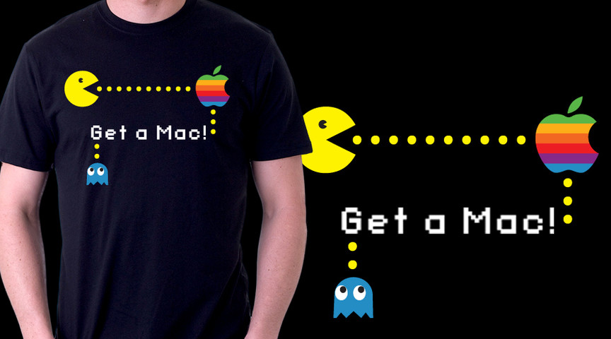 Mac vs Pacman (retro version)