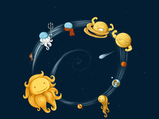 The Solar System by spookylili