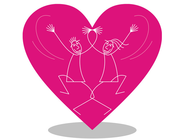 Dance with pink heart...!!!