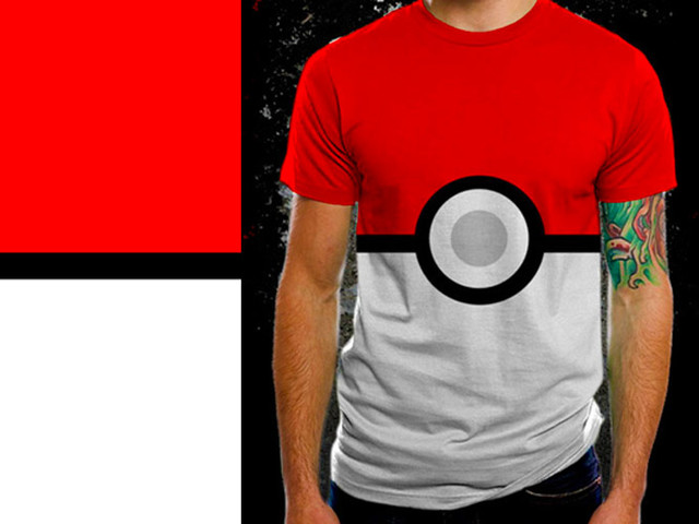 There's a Pokeball on yo shirt!