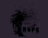 HOPE - Oil Splatter by Ciej